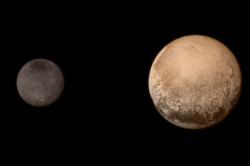 Pluto and Charon from New Horizons approach