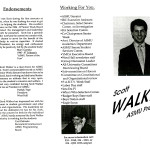 Scott Walker's campaign put out this campaign literature during his 1988 bid for president of the Associated Students of Marquette University. MANDATORY CREDIT: Department of Special Collections and University Archives, Marquette University Libraries