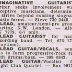 Steve Hackett Melody Maker ad