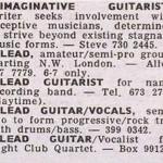 Steve Hackett Melody Maker ad
