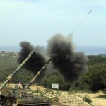 epa04889833 (FILE) A file picture dated 02 June 2015 shows South Korean K-9 self-propelled howitzers firing artillery shells during a military drill in Goseong, South Korea's east coast. According to media reports on 20 August 2015, North Korea fired a shell at a South Korean front-line military unit. The South Korean military's radar system detected North Korea firing a shell at a South Korean front-line military unit in Yeoncheon, Gyeonggi Province, northwest of Seoul, at 3:52 p.m., the South Korean Ministry of National Defense said. In response, South Korea fired back dozens of 155-millimeter shells at the point where the North Korean shell was fired from. EPA/YONHAP SOUTH KOREA OUT – BEST QUALITY AVAILABLE