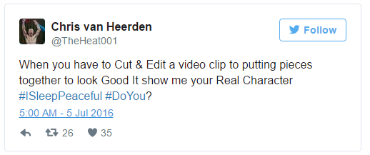 Chris Van Heerden Tweet - Mac Life Video