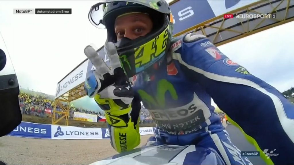 Rossi-second place-Czech republic